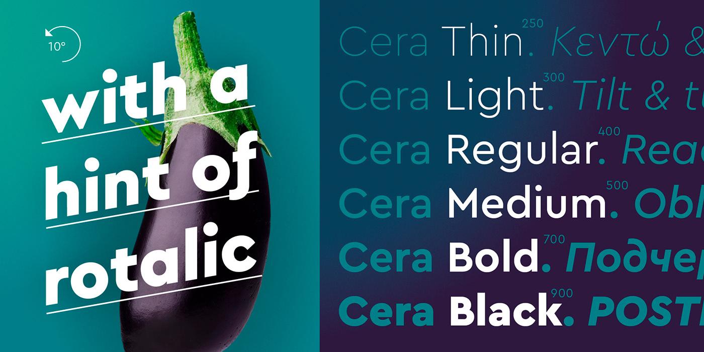 时尚优雅杂志标题Logo设计无衬线英文字体素材 Cera Pro Font Family插图3