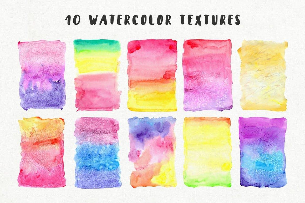 可爱平面广告服装印花图案设计矢量设计素材套装 Aqua Mellon Artistic Toolkit插图3