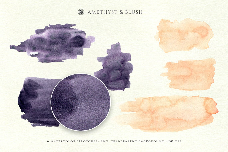 腮红水彩纹理背景图片设计素材 Watercolor Backgrounds – Blush插图3