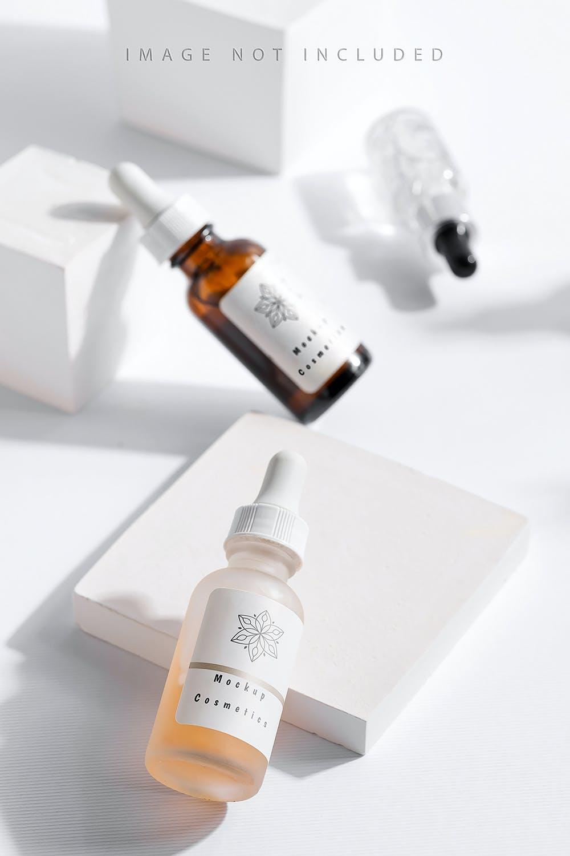 6款药物化妆品滴管瓶设计展示贴图样机合集 Dropper Bottle Mockup Set插图3