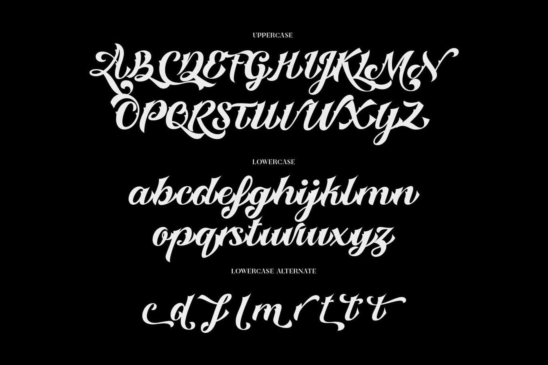 时尚复古哥特式标题徽标Logo手写英文字体素材 Custody Script – Tattoo Font插图3