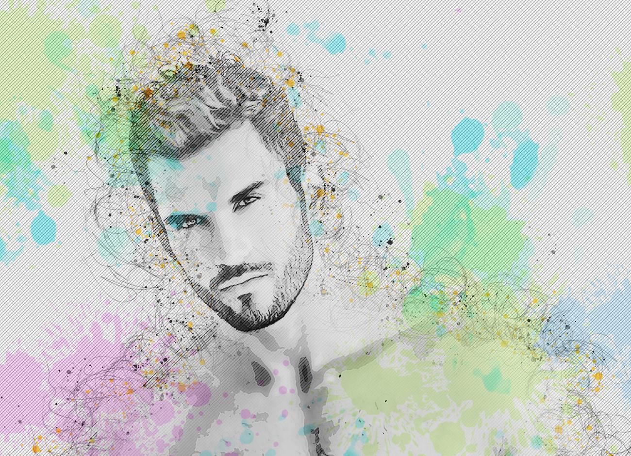 抽象铅笔素描效果照片处理特效PS动作模板 Abstract Sketch Photoshop Action插图4