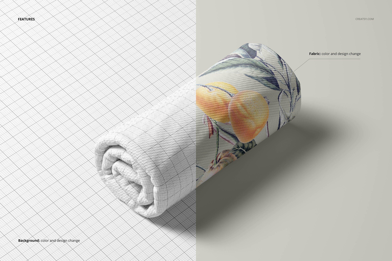 凸起面料布料印花图案设计展示贴图PSD样机模板合集 Bullet Fabric Mockup Set (14/FFv.11)插图3