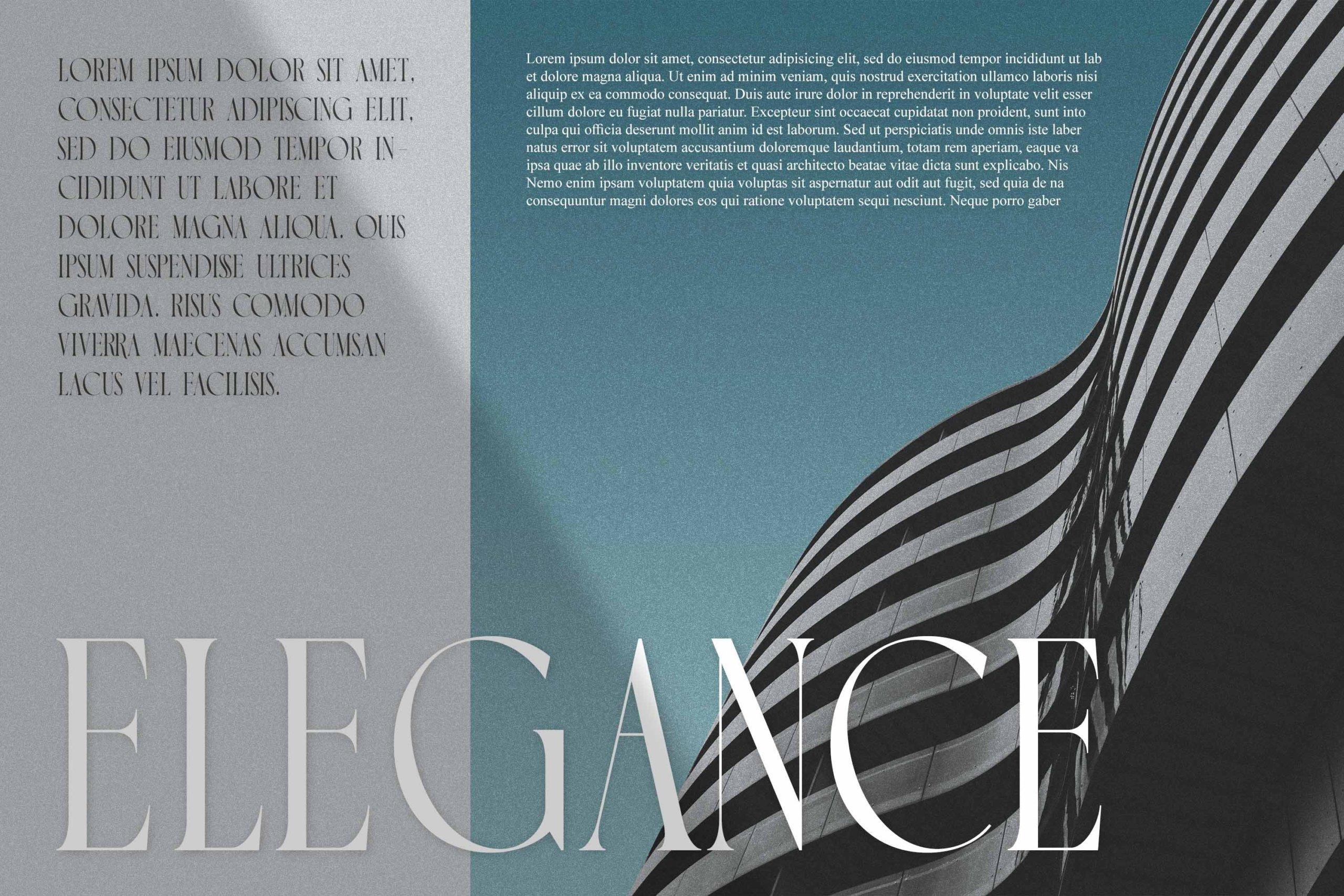 时尚极简现代品牌Logo标题衬线英文字体设计素材 Luxoorea – Stylish Display Serif插图4