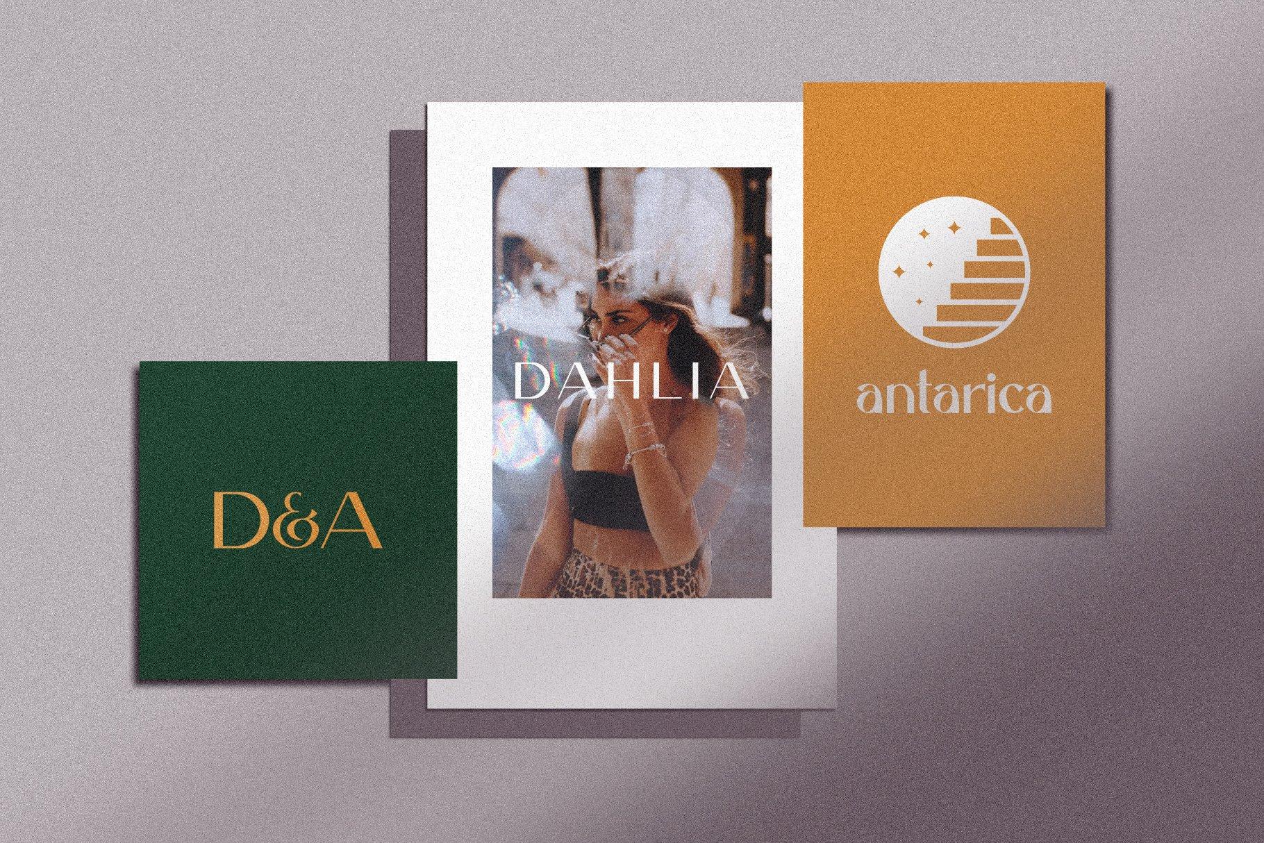 优雅轻奢现代时尚Logo杂志海报标题衬线英文字体素材 Caligna Typeface插图4