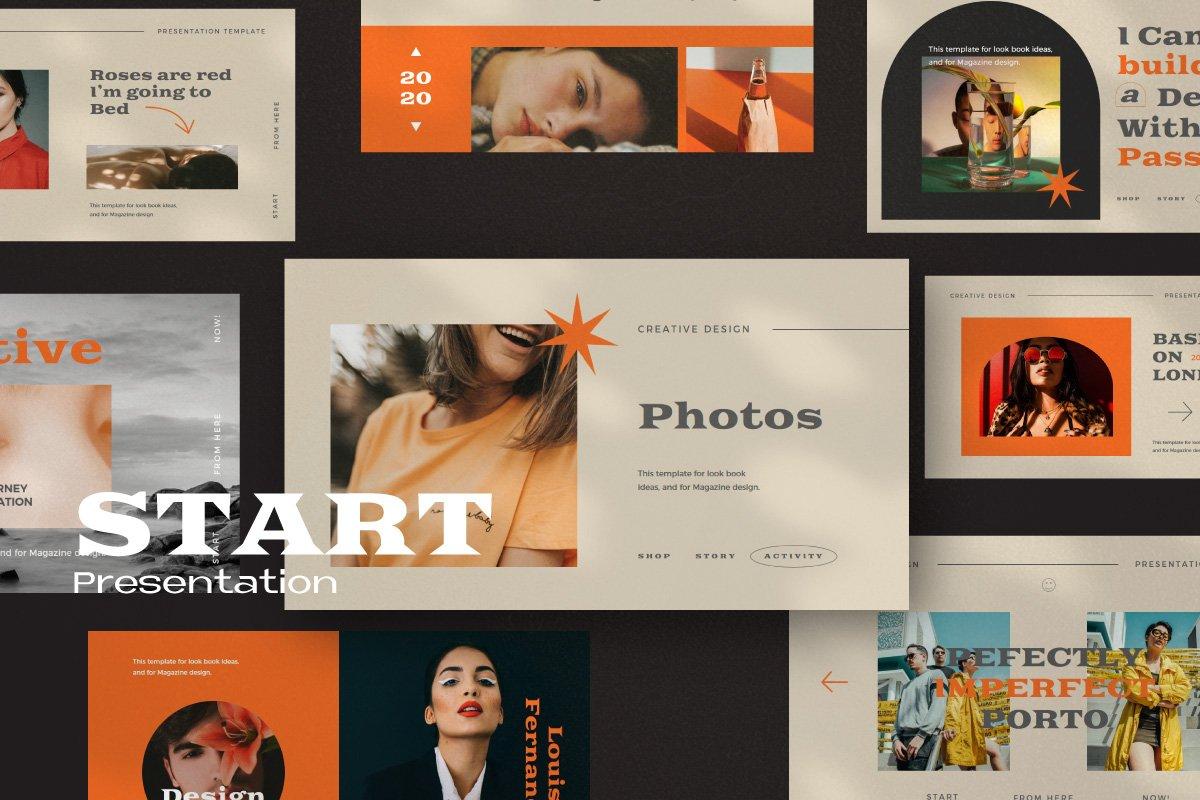 时尚创意服装潮牌品牌提案简报演示文稿设计模板 Start – Creative Agency Powerpoint插图4