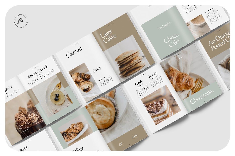 24页食品美食食谱画册排版设计INDD模板素材 Piebble Food Recipe Cookbook插图4