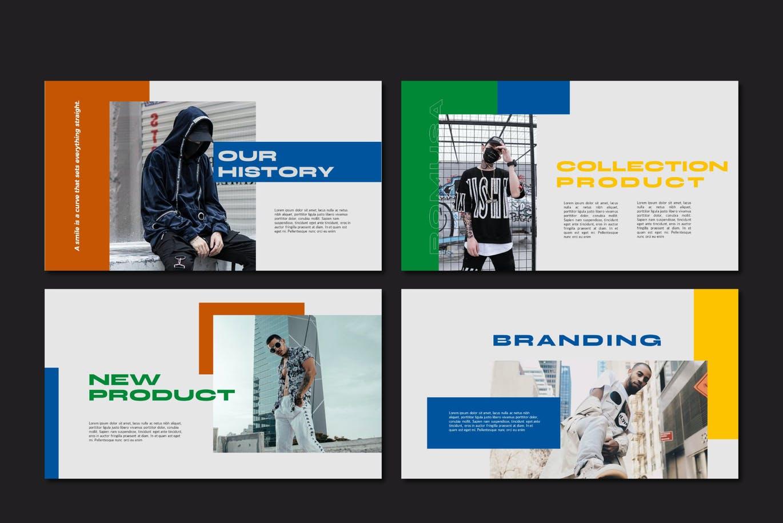 简约人像风景摄影作品集排版设计演示文稿模板 Romusa Powerpoint Template插图4