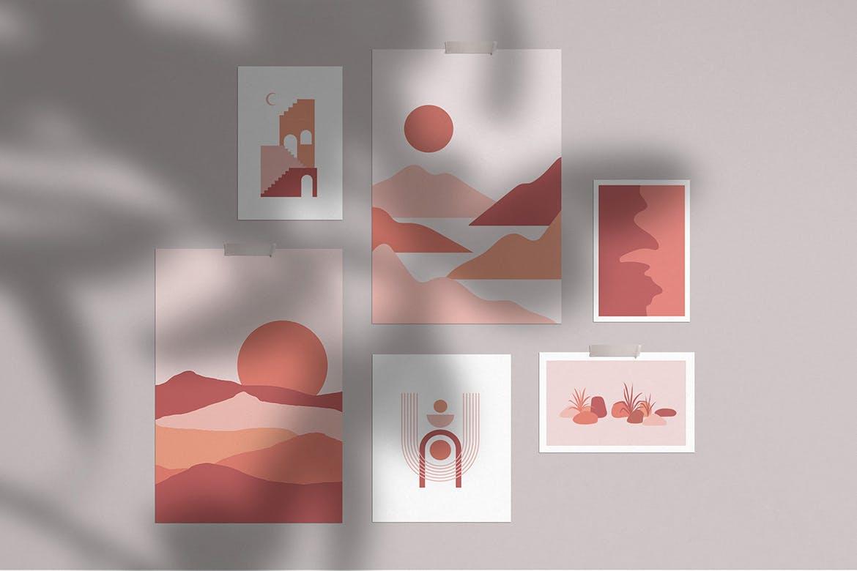 [单独购买] 150个抽象山丘建筑几何图案矢量设计素材 DUNE Abstractions & Prints插图4