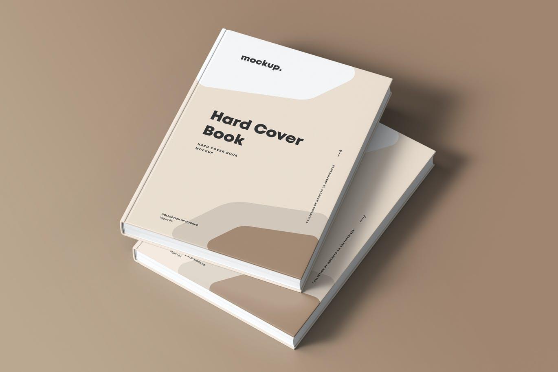 8款精装书封面设计展示贴图样机模板素材 Hard Cover Book Mock-up插图12