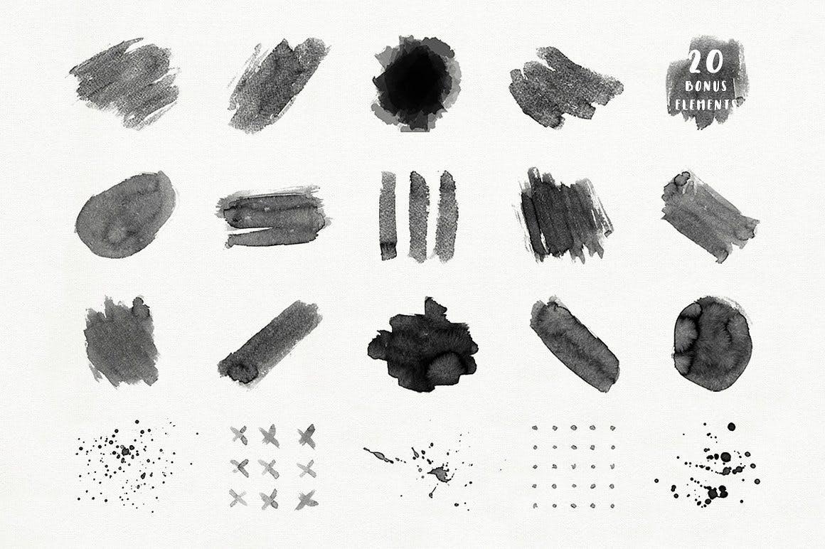 可爱平面广告服装印花图案设计矢量设计素材套装 Aqua Mellon Artistic Toolkit插图4