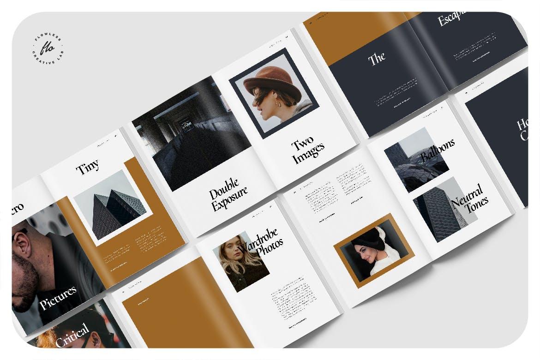 简约摄影作品集排版画册设计INDD模板素材 Femesso Photography Portfolio插图4