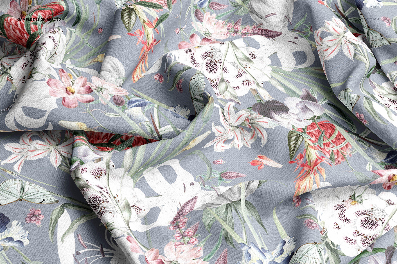 时尚棉料布印花图案设计展示样机合集 Cotton Closeup Mockup Set插图5