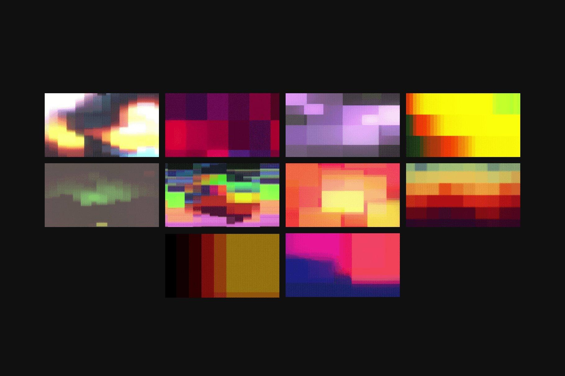[单独购买] 潮流故障颗粒网格渐变VHS样式纹理背景图片视频设计素材套装 Studio 2am – Sensory – Retro Animated Textures插图5