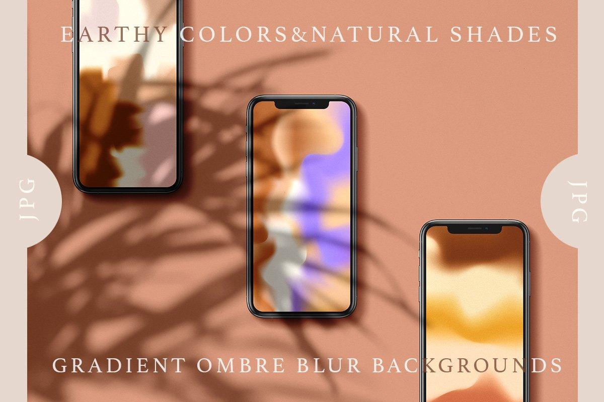 [单独购买] 20款抽象复古模糊渐变颗粒噪点装饰背景纹理图片设计素材 Gradient Ombre Blur Textures插图5
