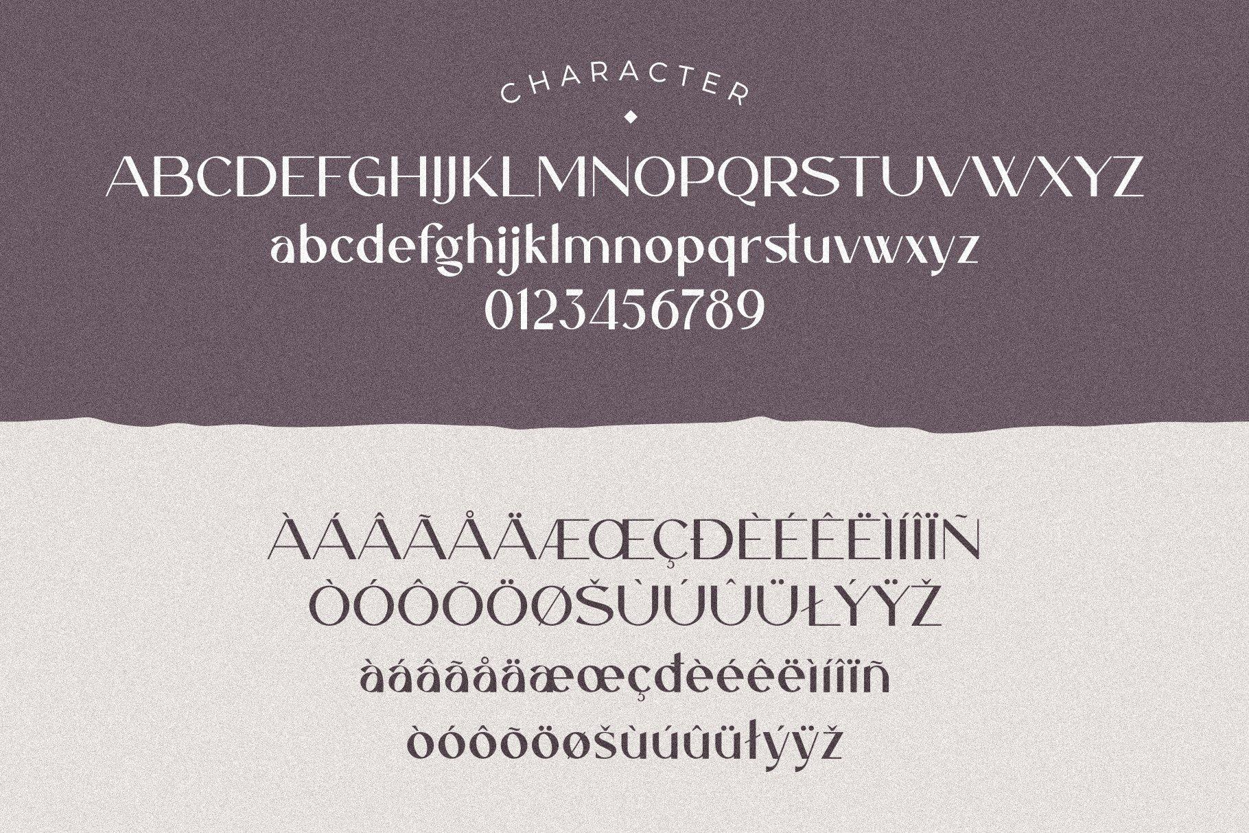 优雅轻奢现代时尚Logo杂志海报标题衬线英文字体素材 Caligna Typeface插图5