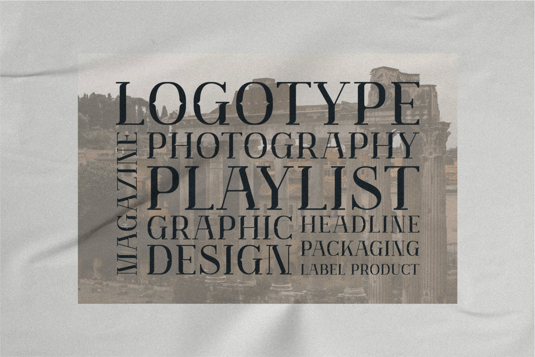 优雅轻奢现代时尚Logo杂志海报标题衬线英文字体素材 Muve Serif Font插图5