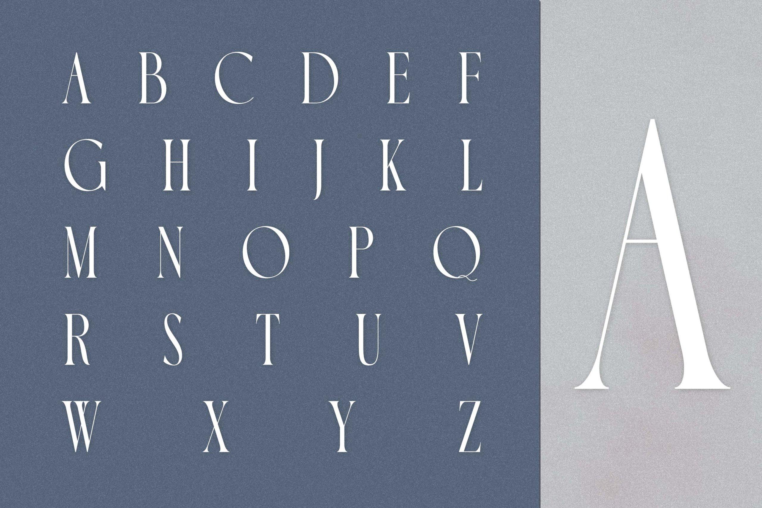 时尚极简现代品牌Logo标题衬线英文字体设计素材 Luxoorea – Stylish Display Serif插图5