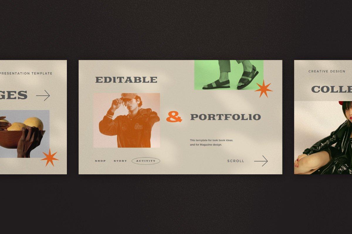 时尚创意服装潮牌品牌提案简报演示文稿设计模板 Start – Creative Agency Powerpoint插图5