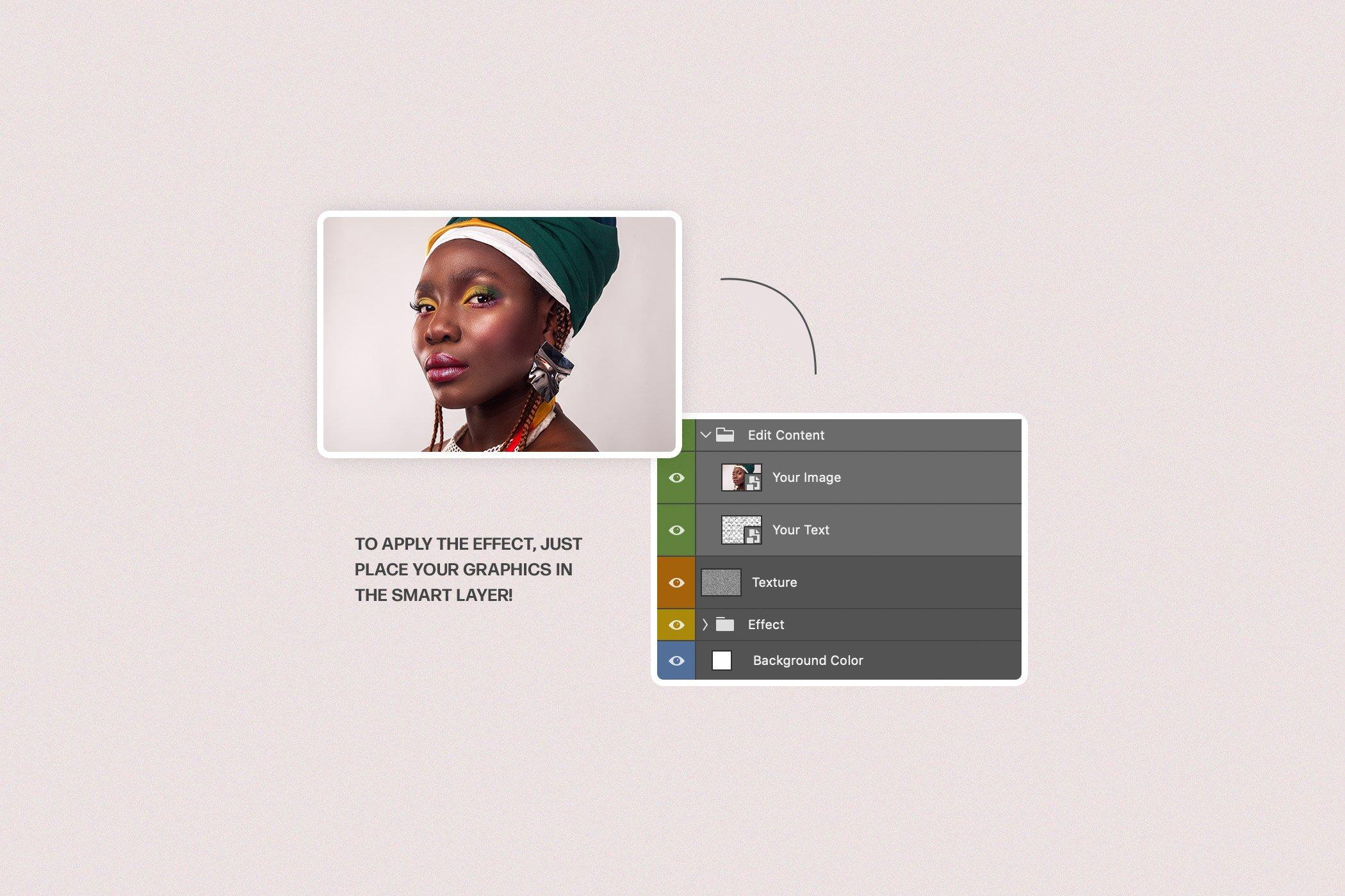 水彩泼墨混合艺术照片处理特效PS样式模板 Mixed Art Photo Effect插图5