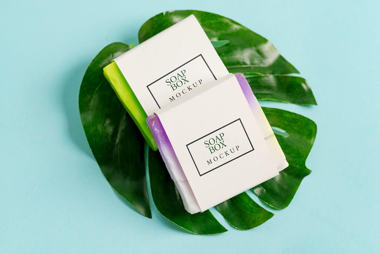 10个香皂标签包装纸设计展示样机套装 Handmade Soap Bar Mockup Bundle插图5