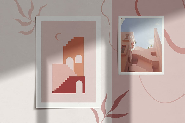 [单独购买] 150个抽象山丘建筑几何图案矢量设计素材 DUNE Abstractions & Prints插图5
