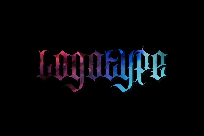 时尚复古哥特式品牌纹身徽标Logo装饰英文字体 Southside Extra Bonus插图5