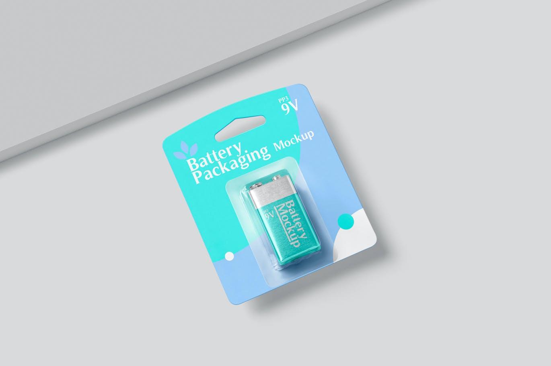 PP3电池包装设计展示贴图样机 PP3 Battery Packaging Mockups插图2