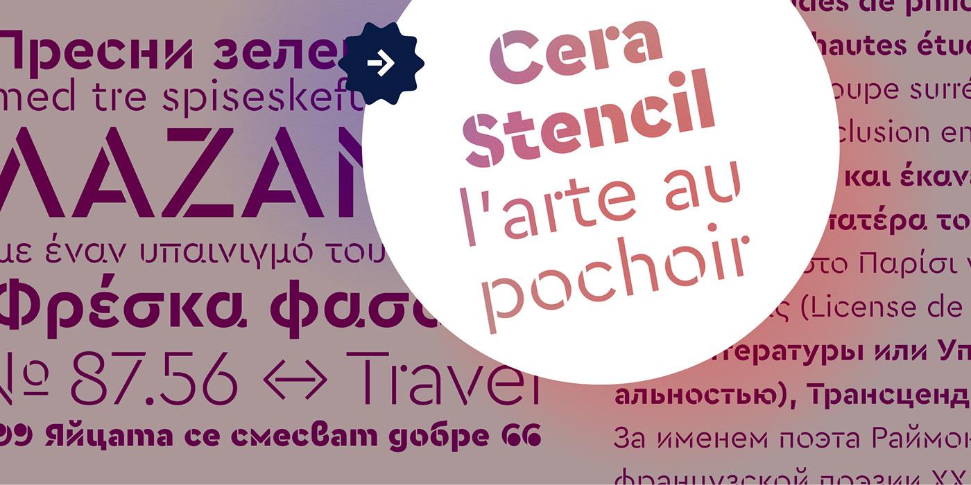 时尚优雅杂志标题Logo设计无衬线英文字体素材 Cera Pro Font Family插图5
