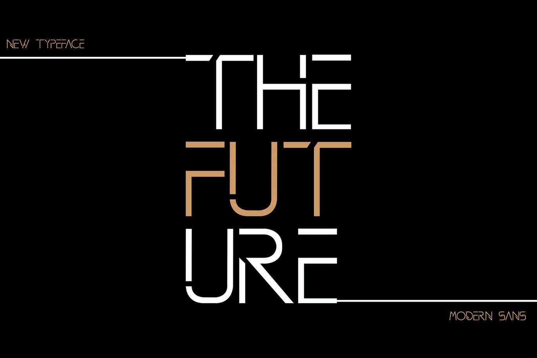 现代时尚品牌杂志海报标题Logo设计无衬线英文字体素材 DAVINCI Modern Sans Fonts插图5