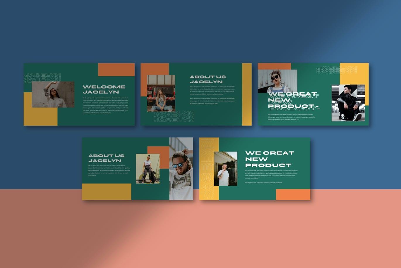 简约摄影作品集设计演示文稿模板 Jacelyn Powerpoint Template插图6