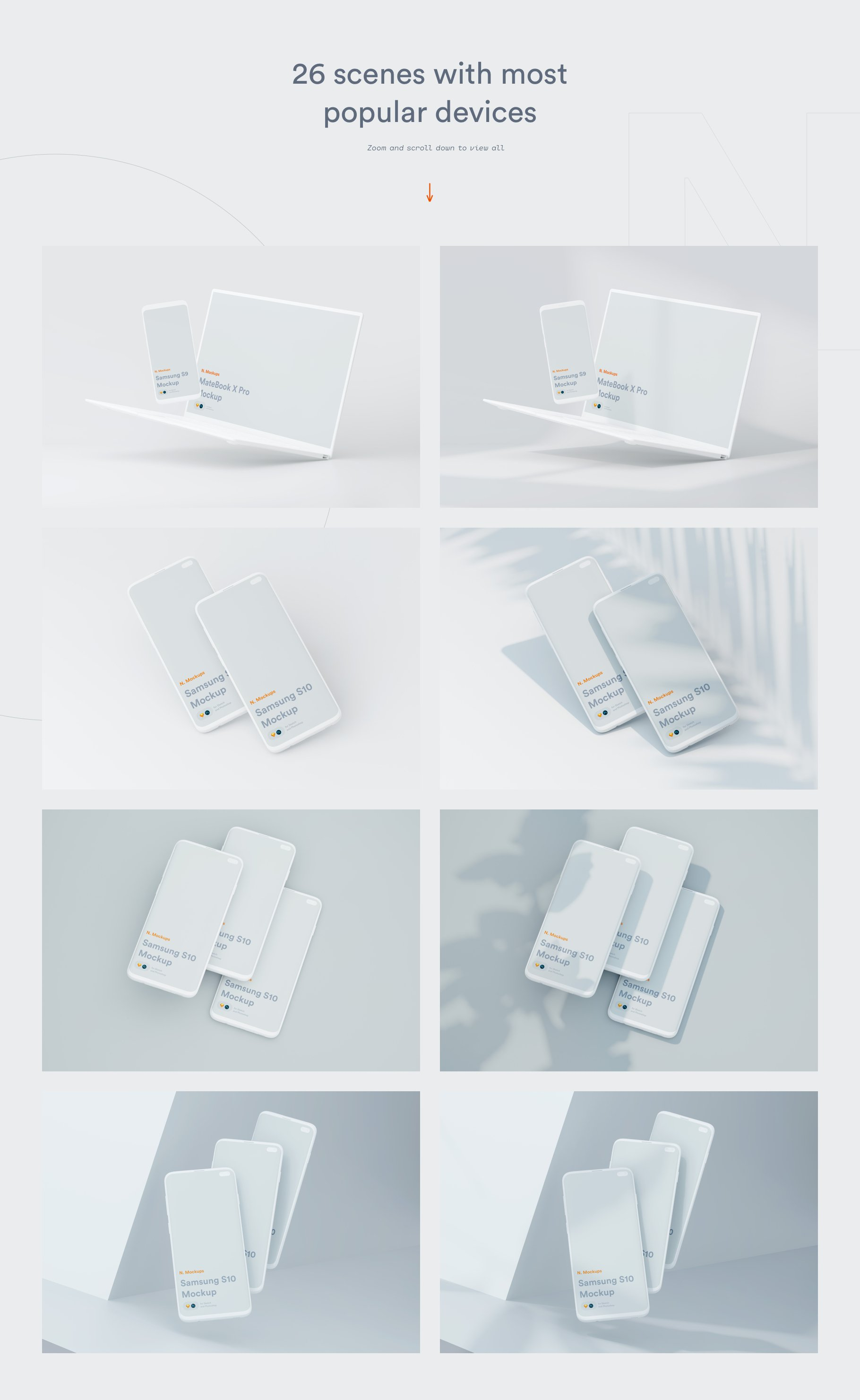 [单独购买] 超大网站APP设计陶瓷苹果设备屏幕演示样机模板素材套装 N.Mockups插图7