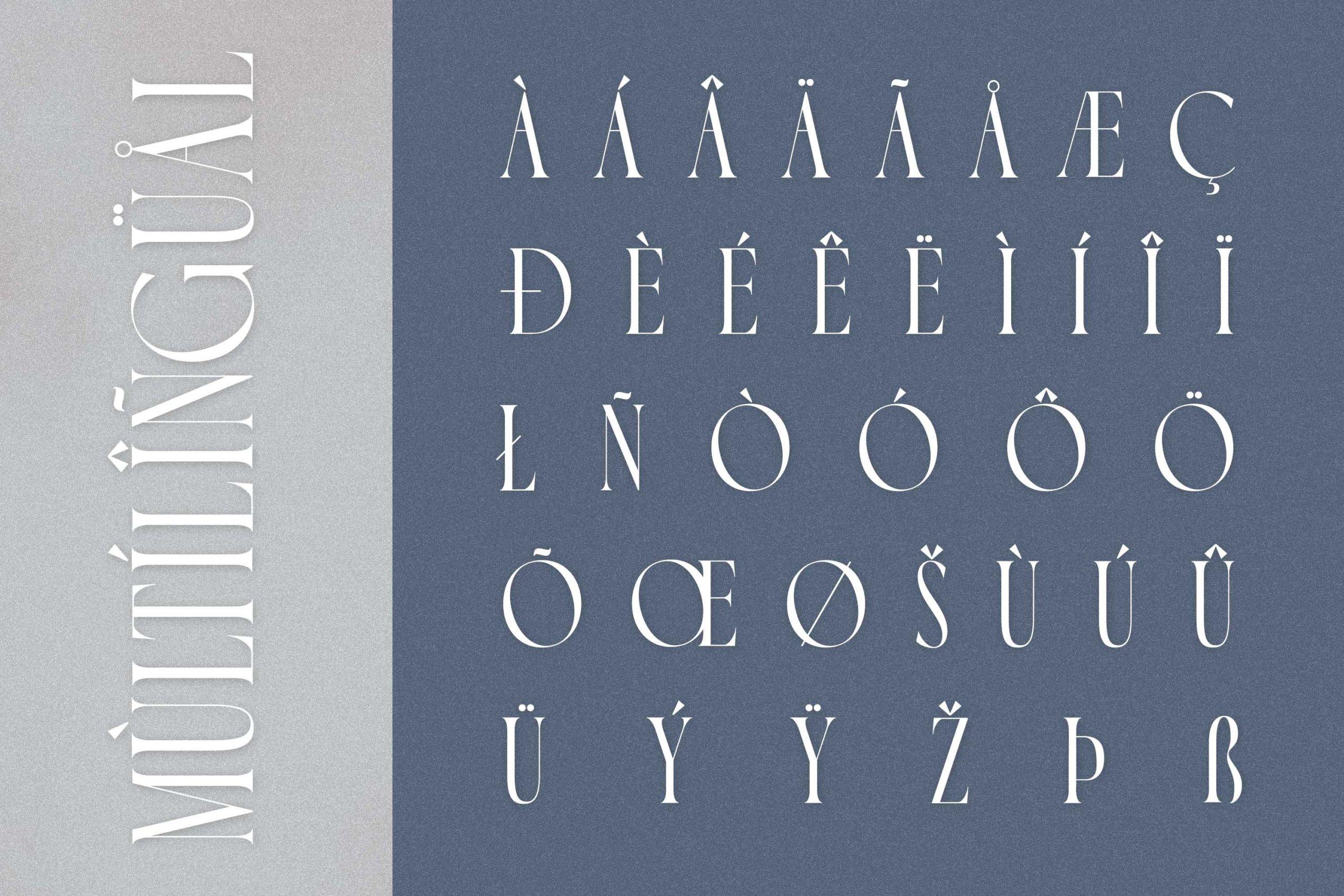 时尚极简现代品牌Logo标题衬线英文字体设计素材 Luxoorea – Stylish Display Serif插图9