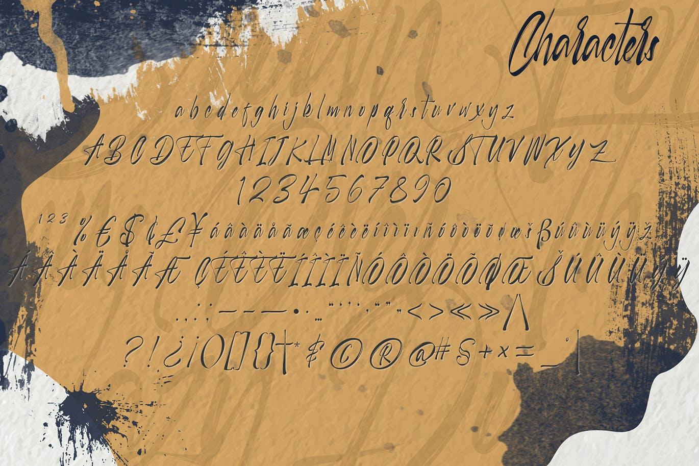 毛笔笔触品牌海报徽标Logo手写英文字体素材 Selfakia Brush Font插图6