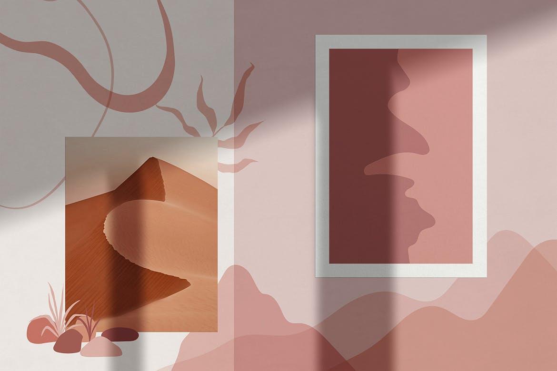 [单独购买] 150个抽象山丘建筑几何图案矢量设计素材 DUNE Abstractions & Prints插图6