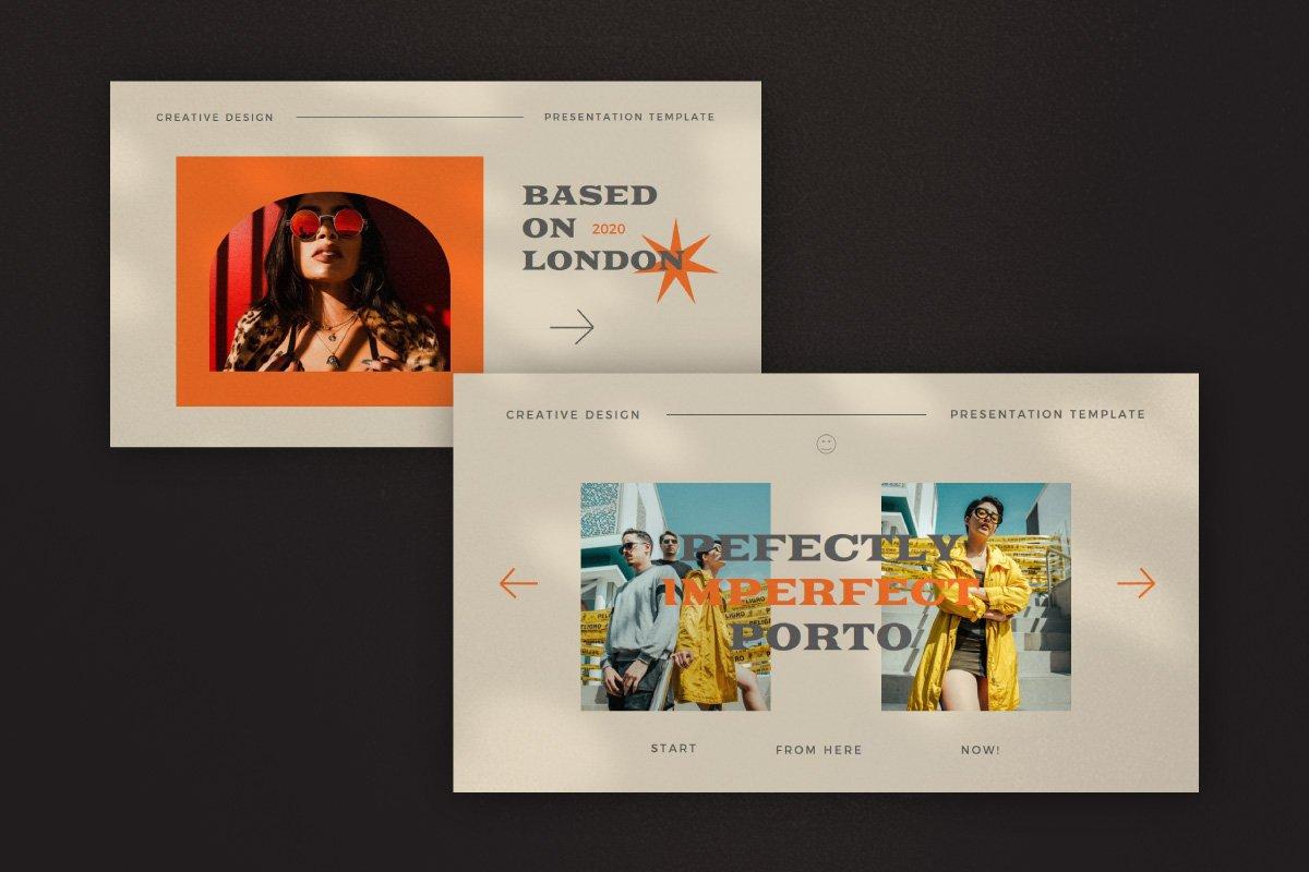时尚创意服装潮牌品牌提案简报演示文稿设计模板 Start – Creative Agency Powerpoint插图7