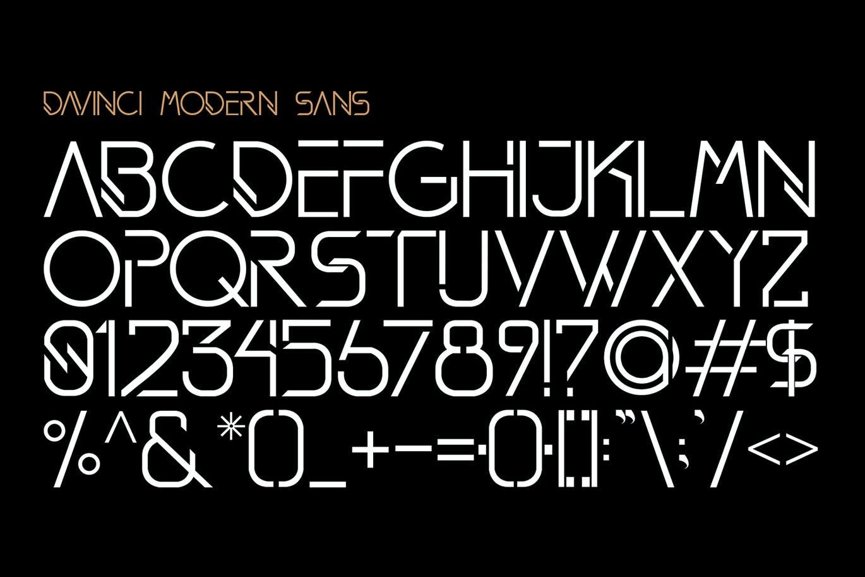 现代时尚品牌杂志海报标题Logo设计无衬线英文字体素材 DAVINCI Modern Sans Fonts插图7
