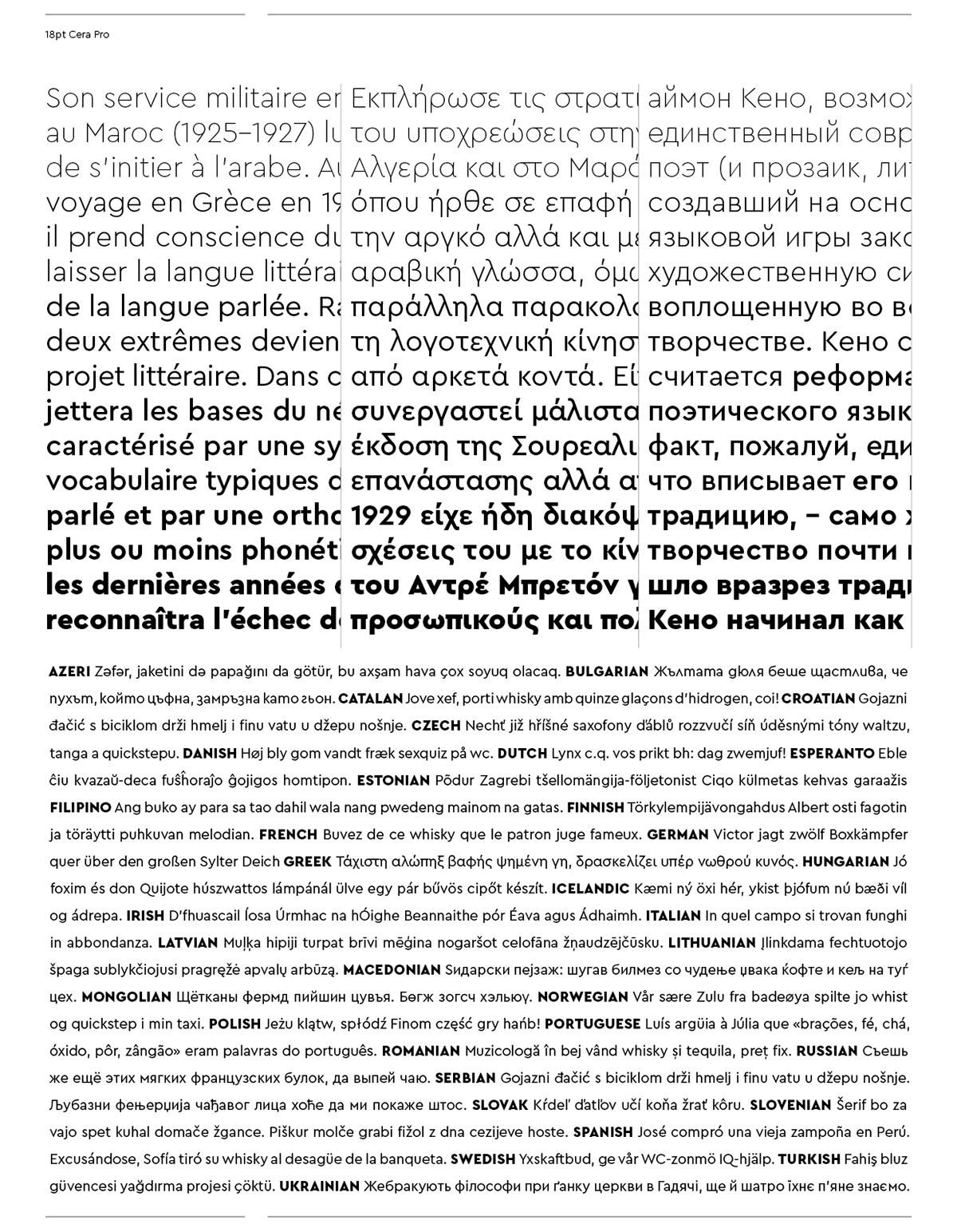 时尚优雅杂志标题Logo设计无衬线英文字体素材 Cera Pro Font Family插图7