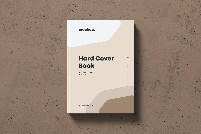 8款精装书封面设计展示贴图样机模板素材 Hard Cover Book Mock-up插图2
