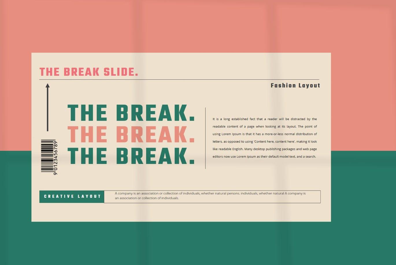 潮流撞色服装作品集演示文稿设计模板素材 MICHALINA Powerpoint Template插图7