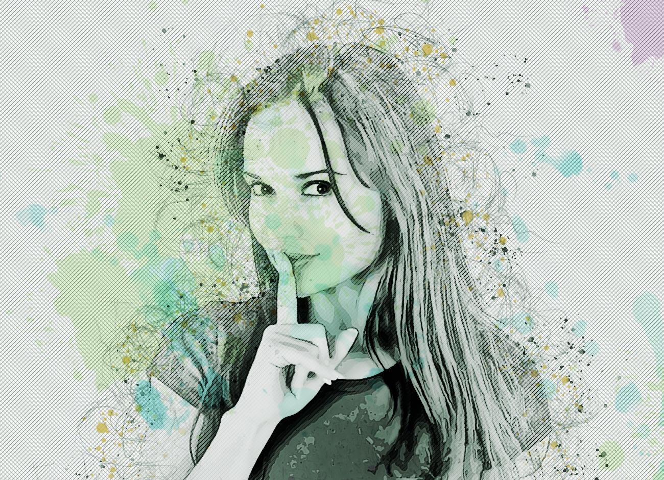抽象铅笔素描效果照片处理特效PS动作模板 Abstract Sketch Photoshop Action插图8