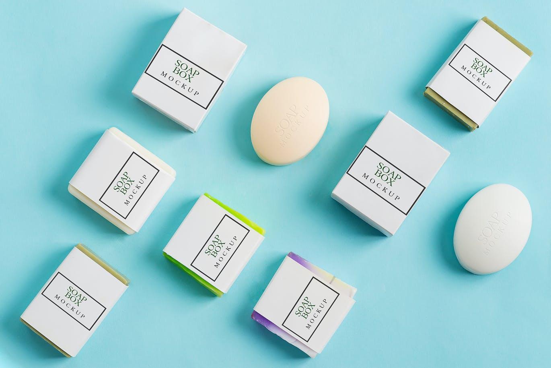10个香皂标签包装纸设计展示样机套装 Handmade Soap Bar Mockup Bundle插图7