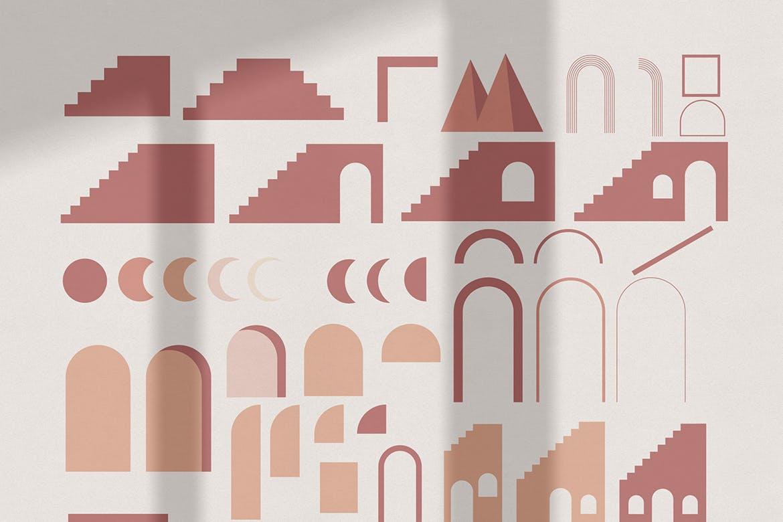 [单独购买] 150个抽象山丘建筑几何图案矢量设计素材 DUNE Abstractions & Prints插图7