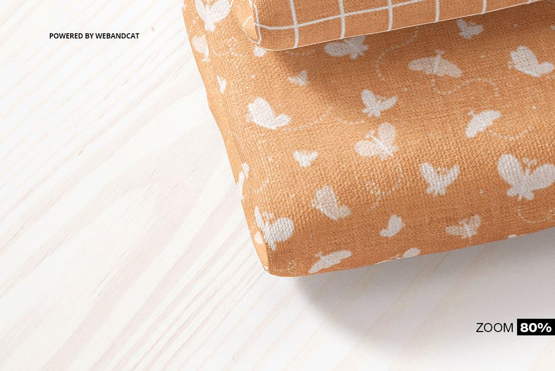 折叠织物面料布料印花图案设计展示样机 Cotton Fabric Mockup 01插图4