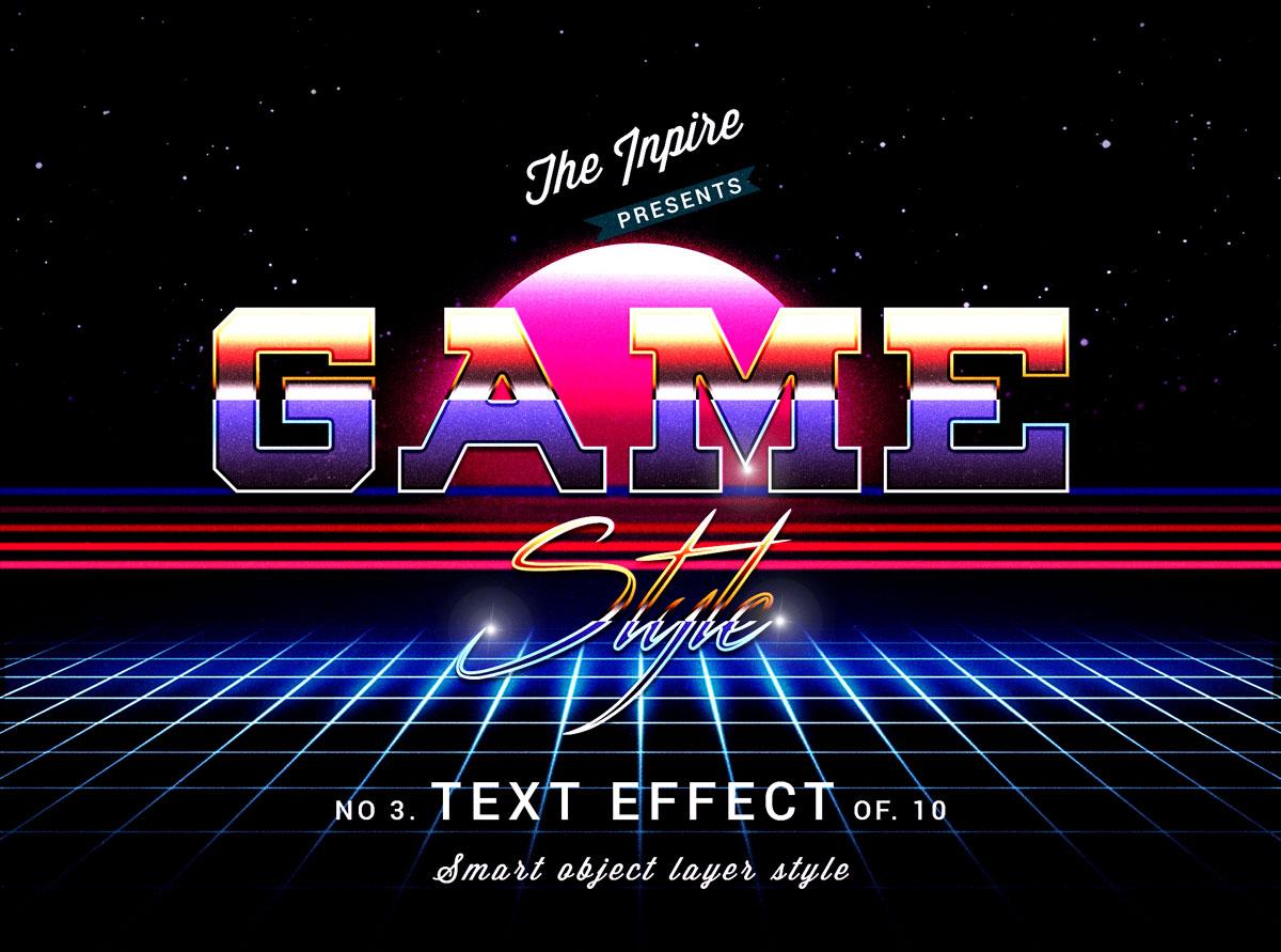 10款复古80年代蒸汽波海报标题Logo设计PS文本样式模板 80s Text Effects Bundle插图6