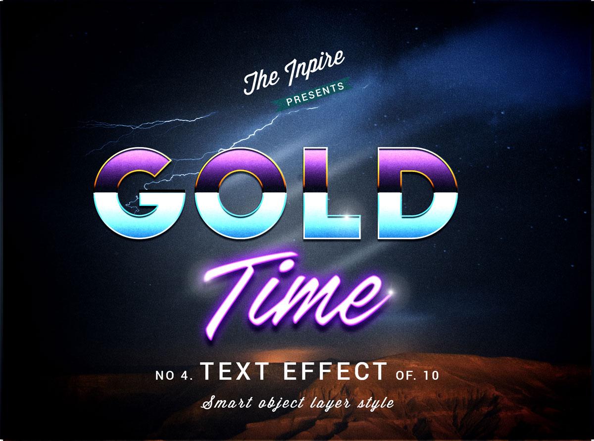 10款复古80年代蒸汽波海报标题Logo设计PS文本样式模板 80s Text Effects Bundle插图