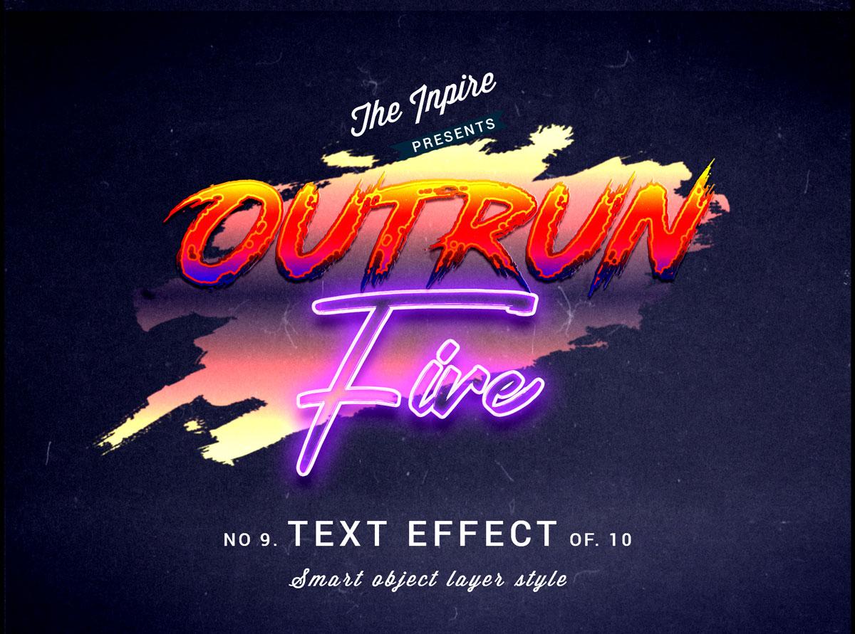 10款复古80年代蒸汽波海报标题Logo设计PS文本样式模板 80s Text Effects Bundle插图2
