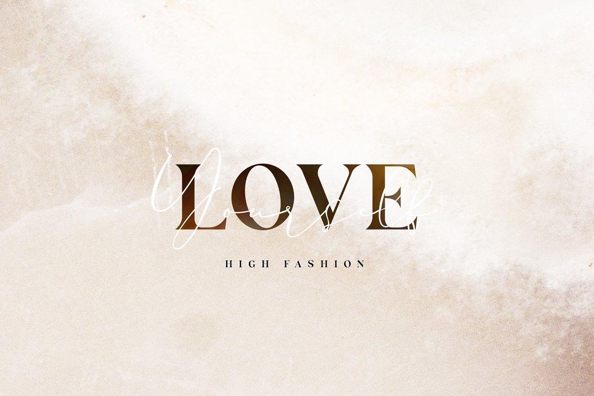 现代奢华海报标题品牌徽标Logo设计衬线英文字体素材 Carphe – Modern Luxury Font插图1