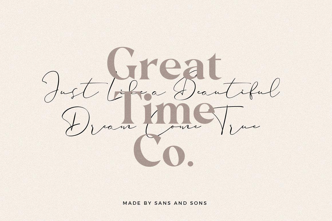 现代奢华海报标题品牌徽标Logo设计衬线英文字体素材 Carphe – Modern Luxury Font插图5