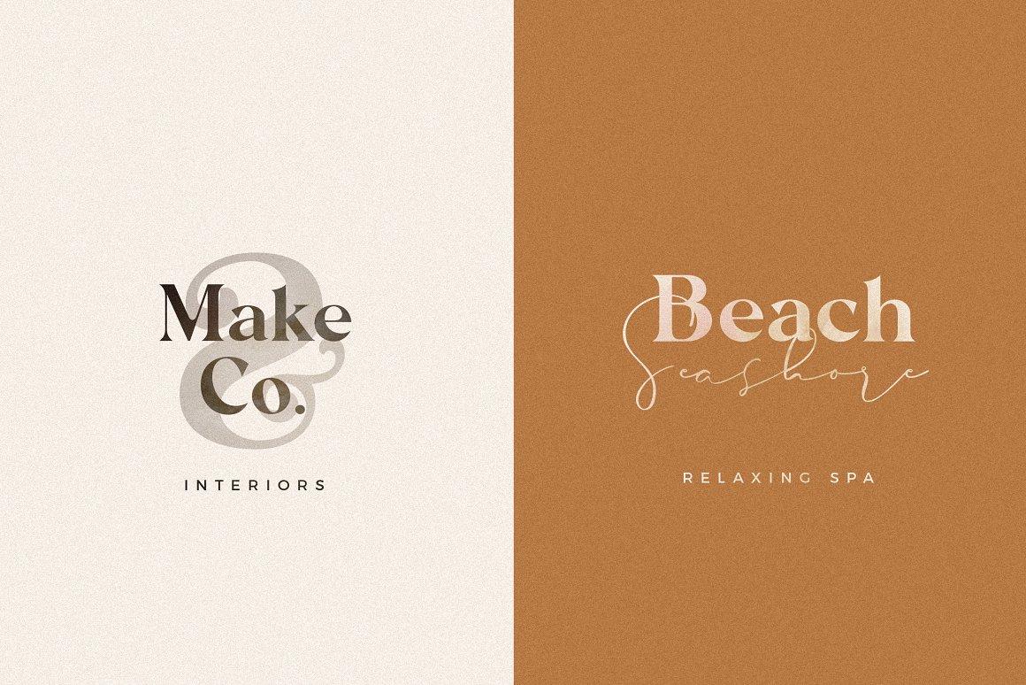 现代奢华海报标题品牌徽标Logo设计衬线英文字体素材 Carphe – Modern Luxury Font插图7